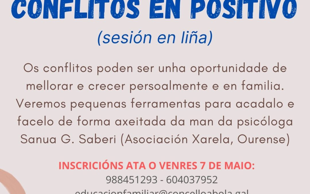 """Escola de Familias En Liña: """"RESOLUCIÓN DE CONFLITOS EN POSITIVO"""""""