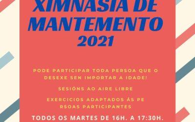 COMEZO DAS SESIÓNS DE XIMNASIA DE MANTEMENTO